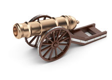 Cannon on carriage Royalty Free Stock Photography