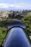 The cannon in the castle of Edinburgh, United Kingdom Stock Photos