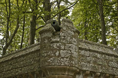 Cannon on a Castle wall at Dunrobin Castle, Stock Images