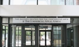 The Cannon Center Atrium. The Commercial Appeal Atrium at the Cannon Center for the Performing Arts Memphis, Tennessee Stock Photo