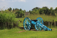 Cannon at Chalmette Battlefield. Downriver from New Orleans in Chalmette, Louisiana is the site of the January 8, 1815, Battle of New Orleans: Chalmette Royalty Free Stock Images