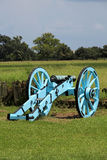 Cannon at Chalmette Battlefield. Downriver from New Orleans in Chalmette, Louisiana is the site of the January 8, 1815, Battle of New Orleans: Chalmette Royalty Free Stock Photo