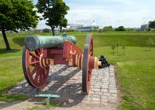 Cannon citadel copenhagen kastellet Royalty Free Stock Photography