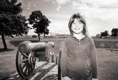 Cannon citadel copenhagen kastellet Royalty Free Stock Photo