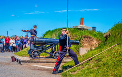 Cannon at the Citadel, Halifax, Nova, Scotia Stock Photography