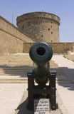 A cannon of the Citadel of Qaitbay Royalty Free Stock Photography