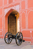 Cannon, city Palace in India. City Palace in India, the home of the Royal family Stock Photos