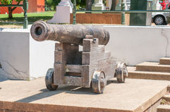 Cannon in the Company Gardens in Cape Town Stock Image