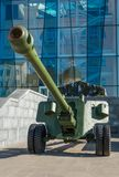 Cannon of the II war in kharkiv. A cannon in Constitution square in kharkiv Ukraine Royalty Free Stock Images