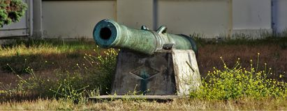 Cannon. From Crissy Field in San Francisco Royalty Free Stock Photography