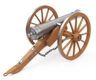 The cannon. 3d generated picture of a cannon on a white floor Stock Photos