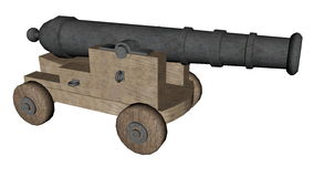 Cannon - 3D render Stock Photo