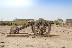 Cannon in Derawar Fort Bahawalpur Pakistan. Cannon in Derawar Fort in Bahawalpur Pakistan royalty free stock photo