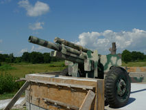 Cannon on display at VFW Post 4518, Sallisaw, OK Royalty Free Stock Photography
