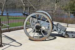 Historic Cannon at Washington`s Crossing State Park stock images