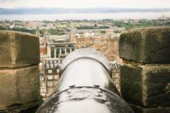 Cannon on Edimburgh Stock Photos
