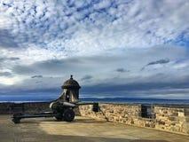 One o'clock Gun, Edinburgh Castle royalty free stock image
