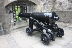 A cannon in the Edinburgh Castle Royalty Free Stock Photo