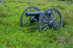 Cannon in a field Stock Photography