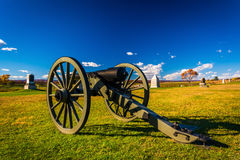 Cannon in a field at Gettysburg, Pennsylvania. Royalty Free Stock Image