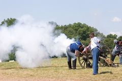 Cannon fire Stock Images