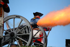 Cannon Fire stock photography