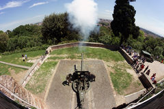 Cannon fire in Rome Stock Image