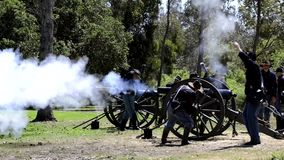 Cannon fire stock video footage