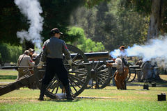 Cannon Firing Stock Images