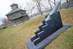 Cannon at Fort Armstrong, Rock Island, Illinois Stock Photo