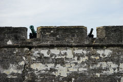 Cannon on Fort Castillo de San Marcos Royalty Free Stock Photography