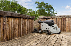 Cannon in Fort George in Ontario Canada Royalty Free Stock Photography