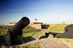Cannon at Fort McHenry Royalty Free Stock Images