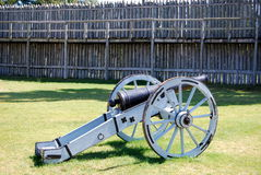 Cannon at Fort Michilimackinac. A Cannon at Fort Michilimackinac, Michigan Royalty Free Stock Photo