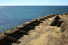Cannon of Fort of Niebla, Chile Royalty Free Stock Photo