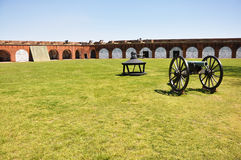 Cannon at Fort Pulaski, Georgia Royalty Free Stock Images