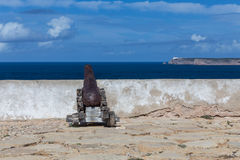 Cannon in the fort of Sagres Royalty Free Stock Image