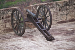 Cannon on fortification of Meherangarh Fort Stock Images