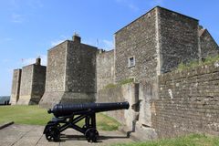 Cannon and fortress of Dover Royalty Free Stock Images