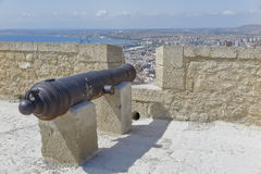 Cannon in the fortress Royalty Free Stock Image