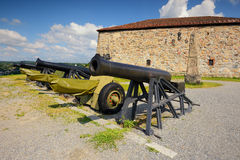 Cannon in a fortress Fredriksstens Fastning, Halden, Norge Stock Image