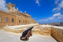 Cannon Fortress Gozo, Victoria. Malta Stock Image
