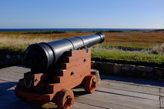 Cannon at Fortress of Louisbourg Stock Image