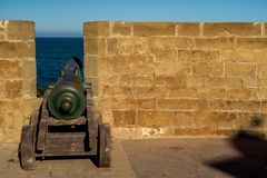 Cannon in fortress, photo as background. Cannon in fortress, beautiful photo digital picture stock photo