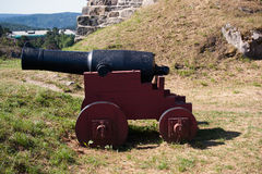 Cannon at Fredriksten Fort Royalty Free Stock Images