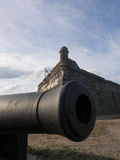 Cannon in Front of Fort Mantanzas Royalty Free Stock Image