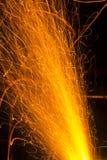 Cannon fuse burning Stock Images