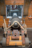 Cannon on the galleon Royalty Free Stock Image