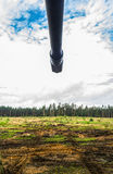 Cannon of a german armoured howitzer. A cannon of a german armoured howitzer Royalty Free Stock Photos