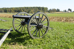 Cannon on Gettysburg battlefield Stock Photo
